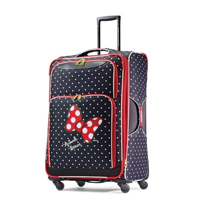 American Tourister 28'' Minnie Mouse Bow Softside Spinner Suitcase - Red