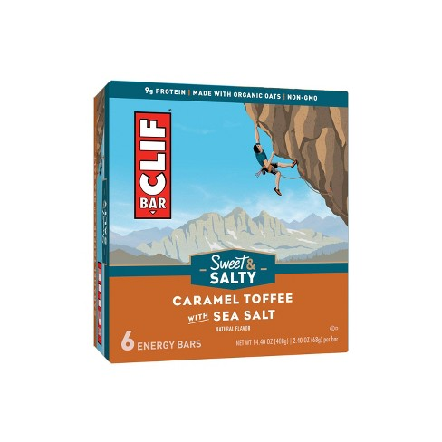 CLIF Bar Sweet & Salty Caramel Toffee with Sea Salt Energy Bars - 6ct - image 1 of 4