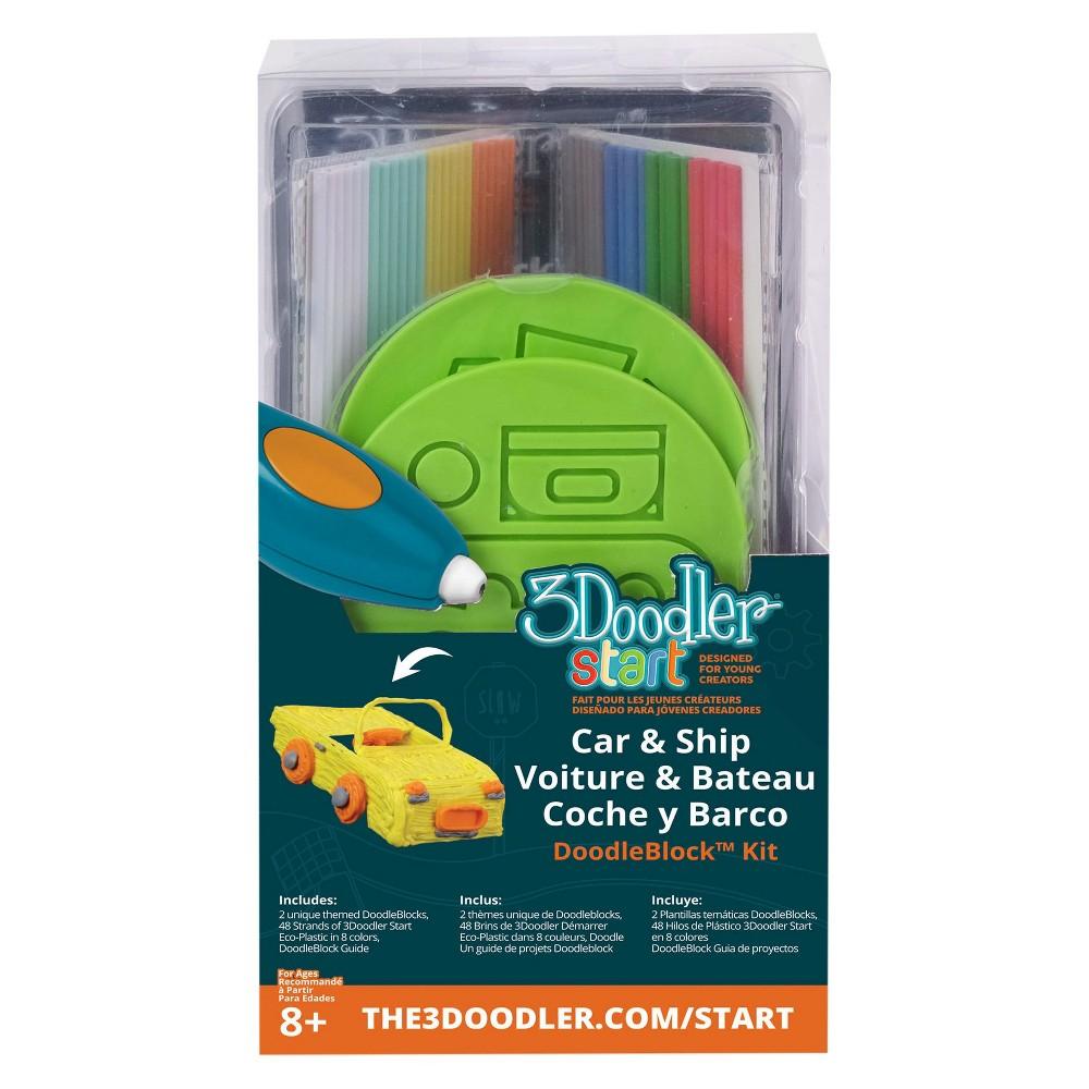 Image of 3Doodler 3D Printing Pen Vehicle Doodleblock Kit, Multi-Colored