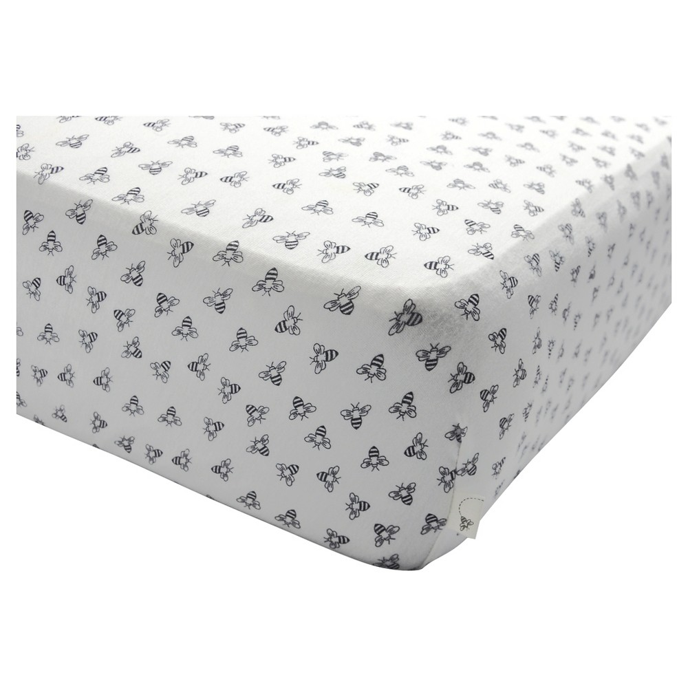 Burt's Bees Baby Organic Fitted Crib Sheet - Honeybee - B...