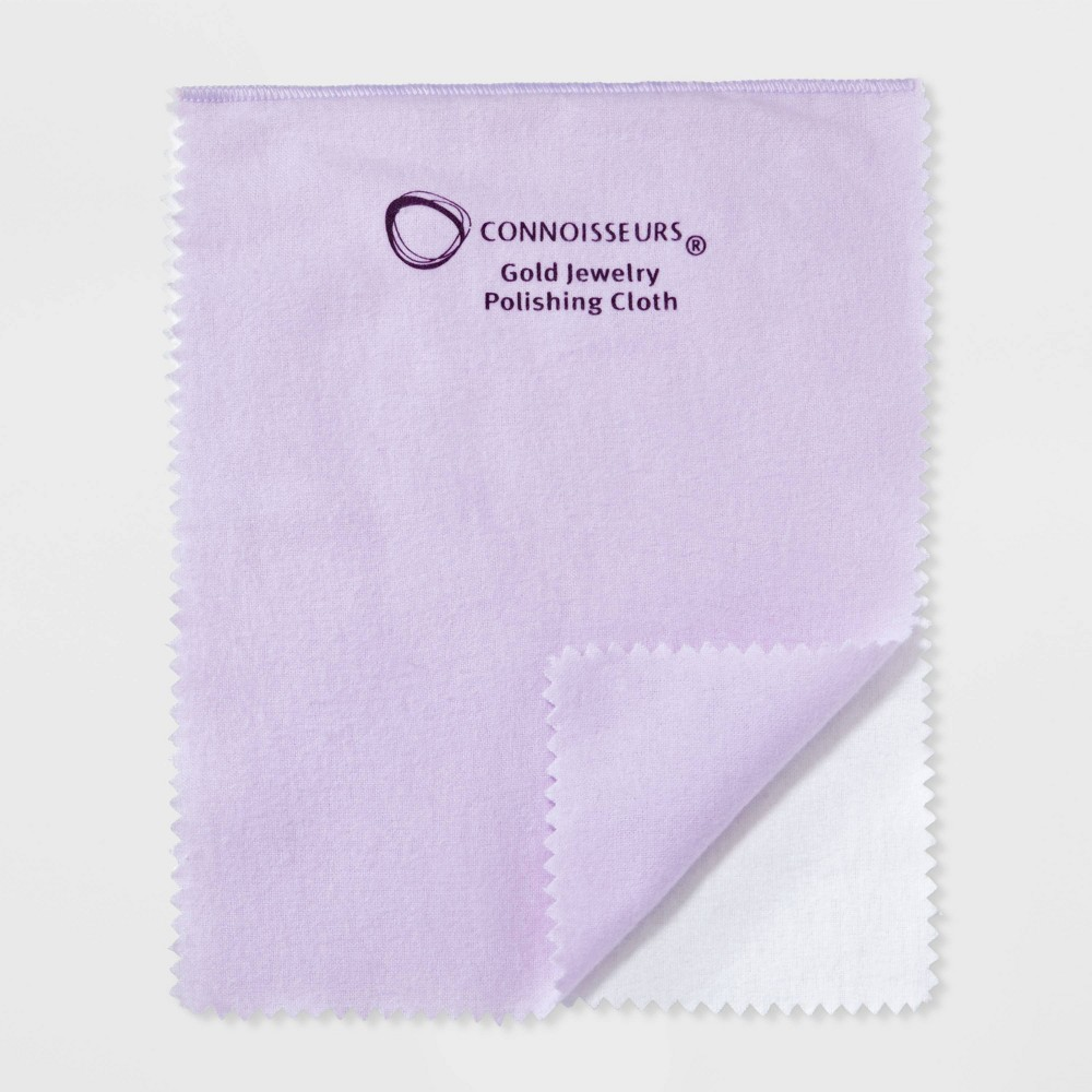 Connoisseurs All-Purpose Jewelry Gold Polishing Cloth Clean your own jewelry and polish it with ease with the All-Purpose Jewelry Gold Polishing Cloth from Connoisseurs. The soft polishing cloth features two sides to perfectly clean and polish your jewelry. After using this all-purpose jewelry cloth without the use of jewelry cleaners, you'll be ready to don your favorite accessories, day or night. Age Group: adult.