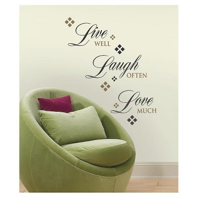 RoomMates Live Love Laugh Peel & Stick Wall Decals