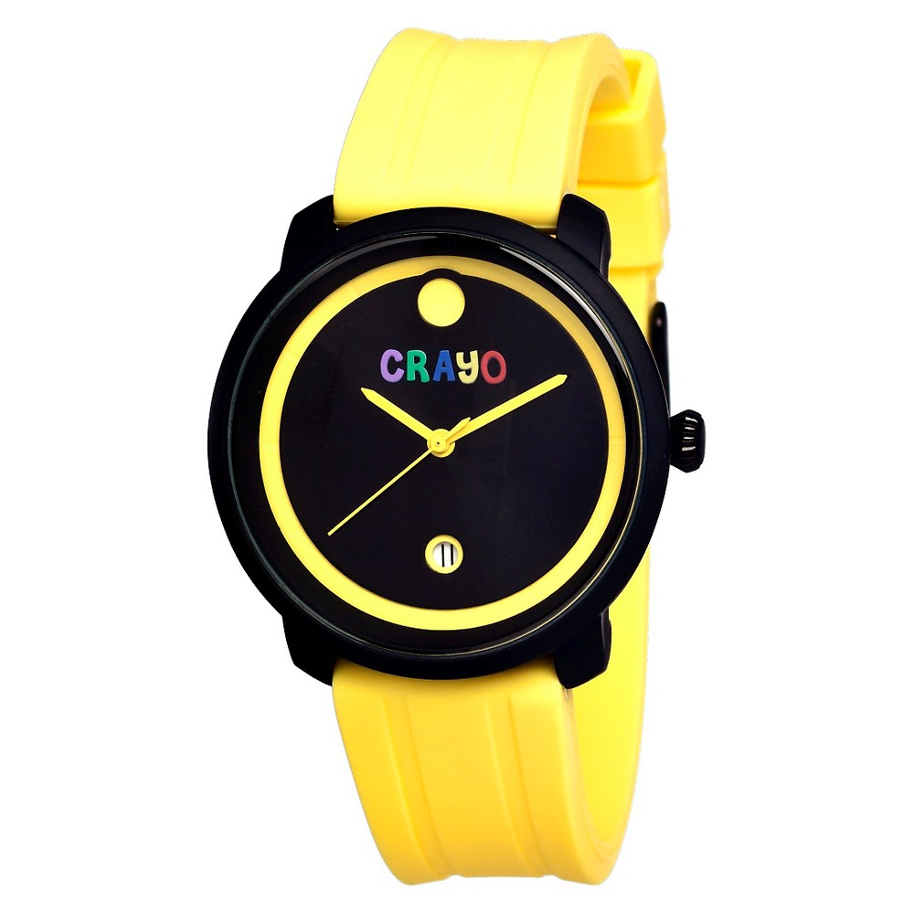 Women's Crayo Fresh Watch with Hinged Rubber Strap - Yellow