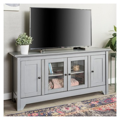 "Wood Storage Console TV Stand for TVs up to 58"" - Saracina Home"