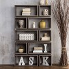 """Willett 65.25"""" Contemporary Decorative Display Cabinet Distressed Gray - ioHOMES - image 4 of 4"""