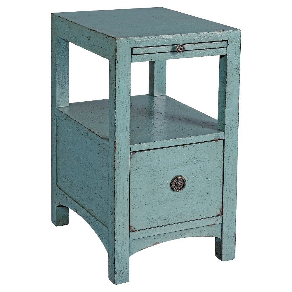 Southern Shores Side Table - Blue - Christopher Knight Home