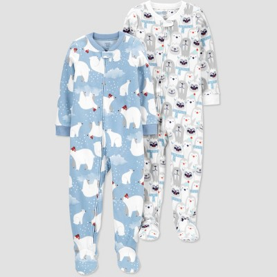 Baby Boys' Yeti Footed Pajama - Just One You® made by carter's Gray/Blue 9M