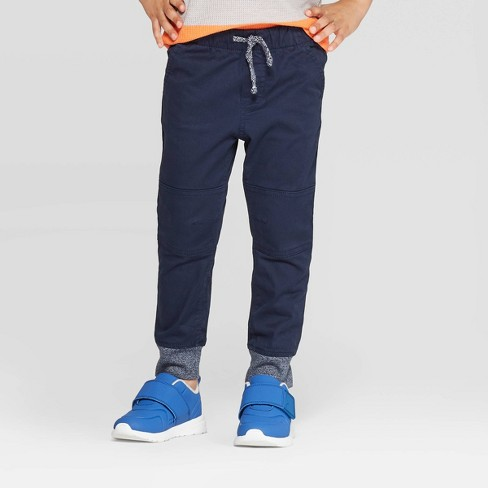 Toddler Boys' Pull-on Pants - Cat & Jack™ Blue - image 1 of 3