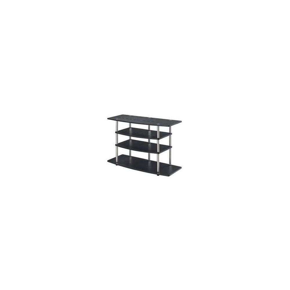 "32"" Designs2Go No Tools Wide Highboy TV Stand Black - Johar Furniture 32  Designs2Go No Tools Wide Highboy TV Stand Black - Johar Furniture"