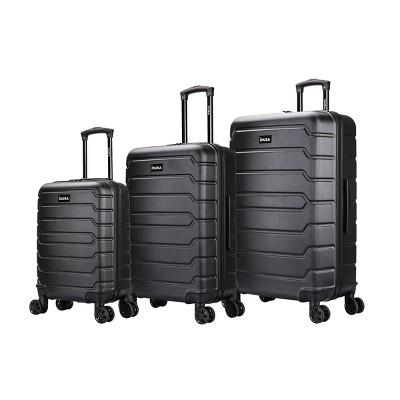 InUSA Trend Lightweight Hardside Spinner 3pc Luggage Set - Black