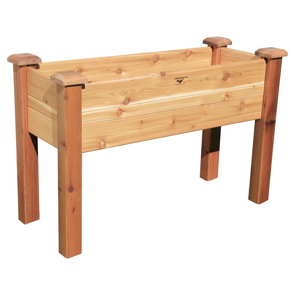 Elevated Rectangular Garden Bed - Wood - Gronomics