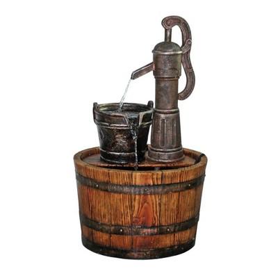 Cistern Well Pump Barrell Garden Fountain - Acorn Hollow