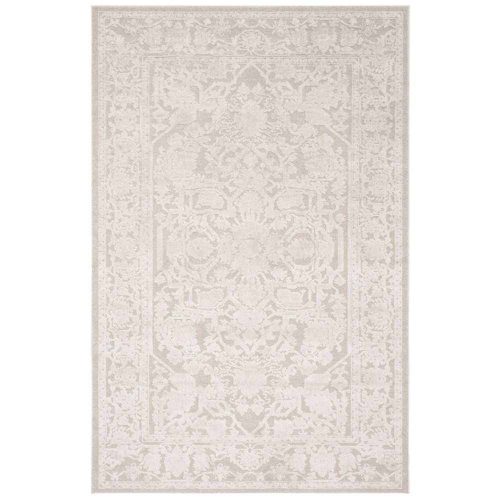 6'X9' Medallion Loomed Area Rug Cream (Ivory) - Safavieh