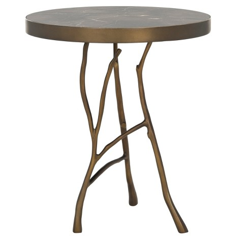 End Table Brown Brass - Safavieh - image 1 of 4