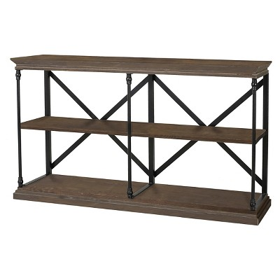 Appleton Two Shelf Industrial Media Bookcase Brown - Christopher Knight Home