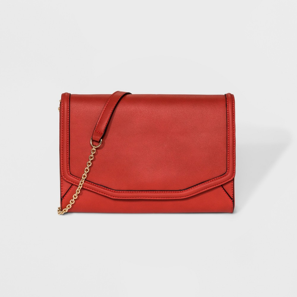Image of Borsani Jayden Clutch - Crimson, Women's, Red