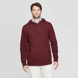 Men's Regular Fit Ultra-Soft Fleece Hooded Pullover Sweatshirt - Goodfellow & Co™