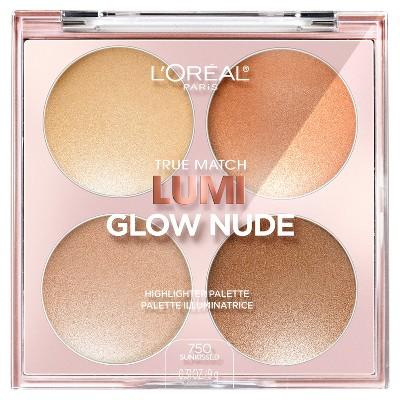 Face Makeup: L'Oreal Paris True Match Lumi Glow Nude Highlighter
