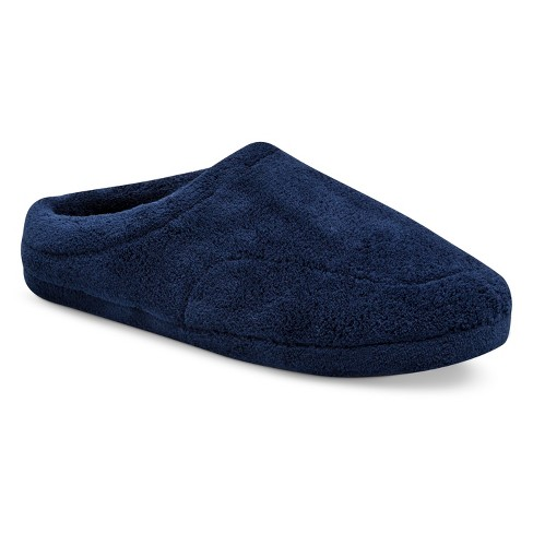 e440cec87 IMPRESSIONS By ISOTONER Men s Microterry Clog Slippers - Navy L   Target