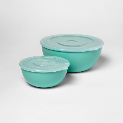 2pc Mixing Bowl Set with Lids Green - Room Essentials™