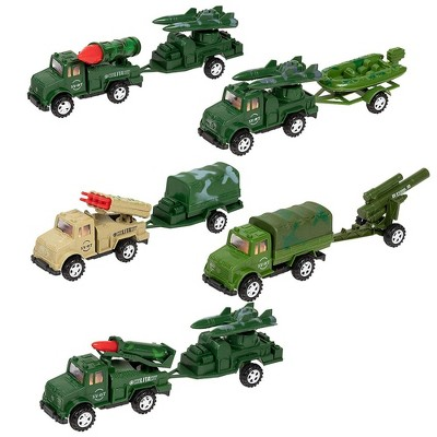 Juvale Set of 10 Military Vehicle Toys, Friction Motor Toy, 5 x 2.25 x 3.1 Inch