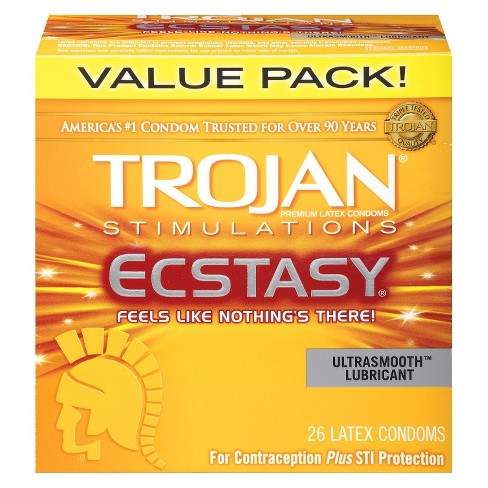 Trojan Simulations Ecstasy Ultrasmooth Lubricant Condoms - 26ct - image 1 of 4
