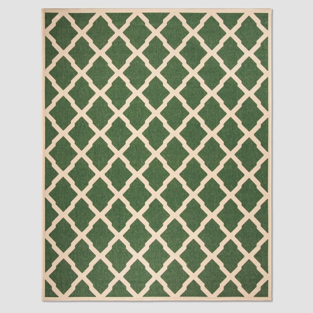 Leonida 8'6 x 12' Outdoor Rug Green/Cream - Safavieh, Green Off-White