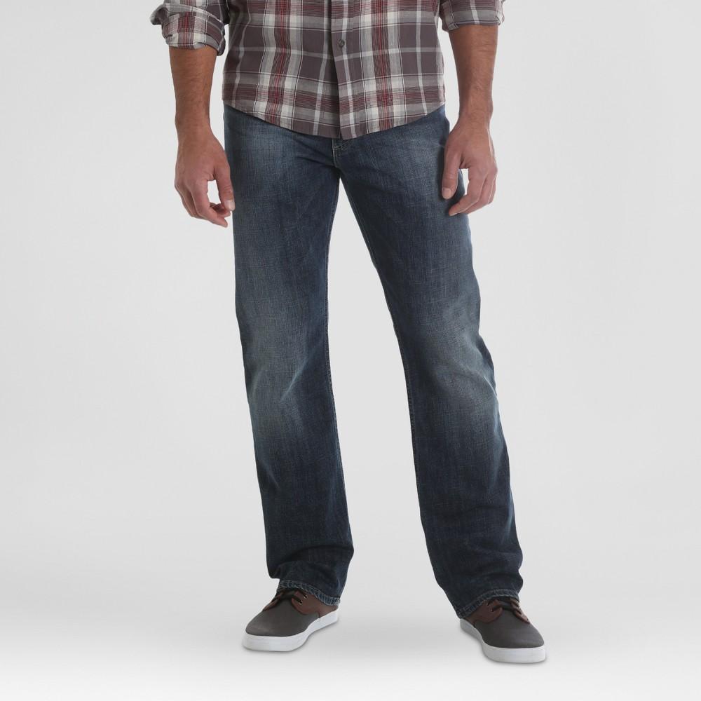 Wrangler Men's Straight Fit Jeans with Flex - Dark 34x30
