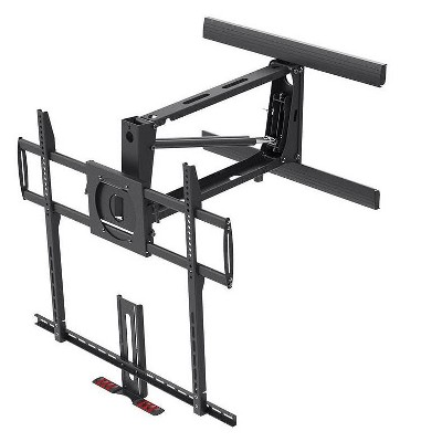 """Monoprice XL Above Fireplace Height Adjustable Swivel TV Pull Down Mantel Wall Mount for LCD LED Plasma Screen Displays 55""""to 100"""", Max weight 154lbs"""