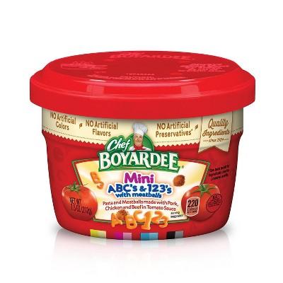 Chef Boyardee Mini-Bites ABC's & 123's with Meatballs - 7.5oz