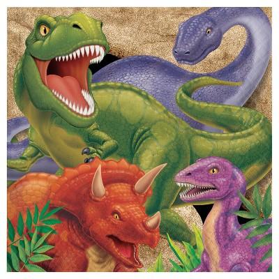 16ct Dino Napkins