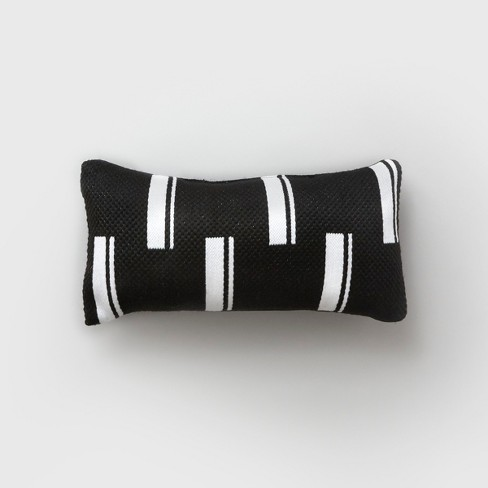 Lumbar Duo Stripe Outdoor Pillow Black/White - Project 62™ - image 1 of 2