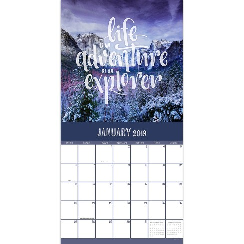 2019 Wall Calendar Nature With Quotes Tf Publishing Target