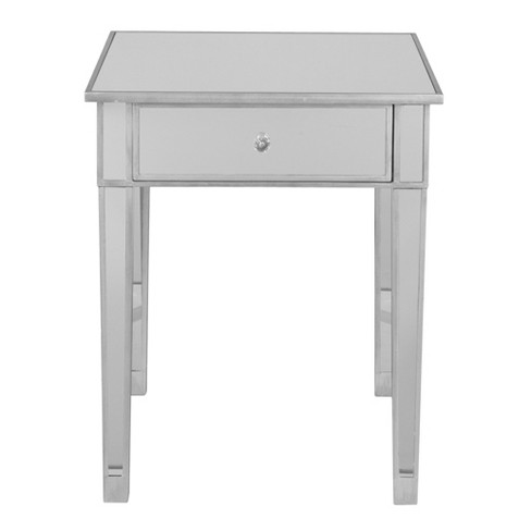 Monroe Mirrored Accent Table Aiden, Target Mirrored Furniture