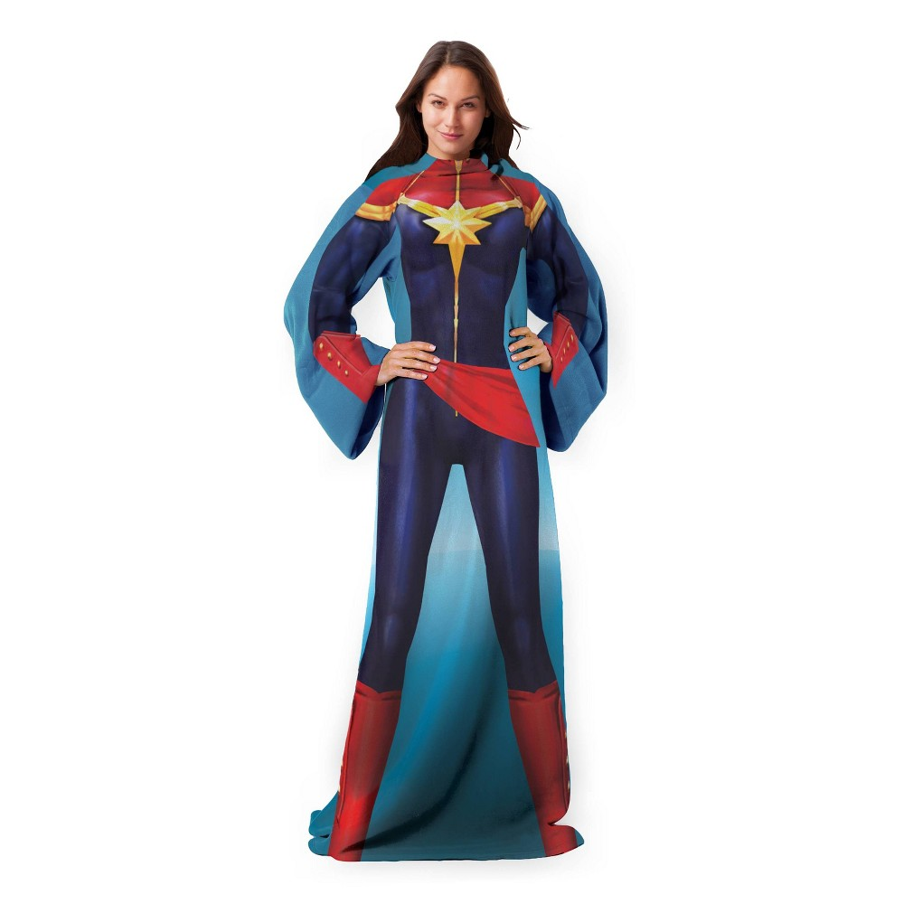 Image of Avengers Mighty Captain Marvel Adult Comfy Throw