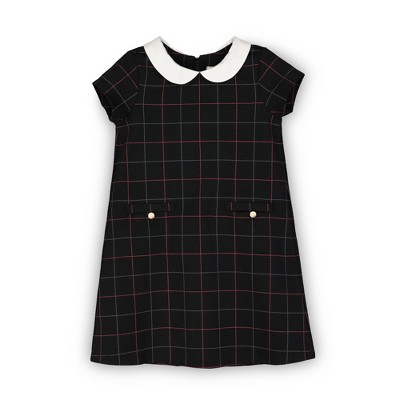 Hope & Henry Girls' Short Sleeve Ponte A-Line Dress, Kids