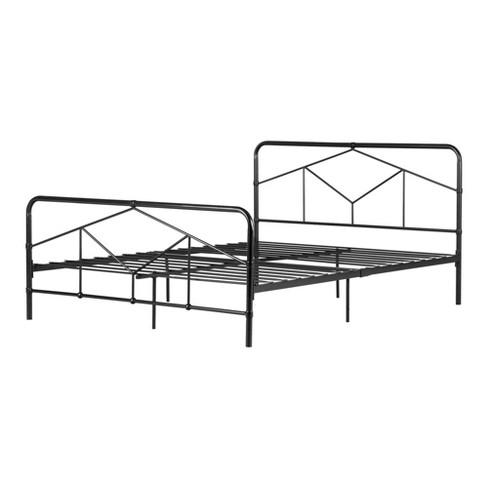 Queen Sazena Geometric Metal Platform, Iron Platform Bed Queen