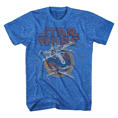 Men's Star Wars® X-Wing T-Shirt Blue - image 1 of 1