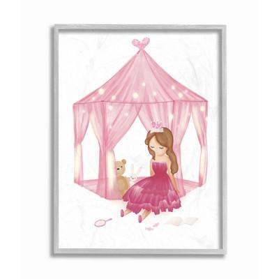 Stupell Industries Girl's Playroom Princess Doll Stuffed Animal Illustration