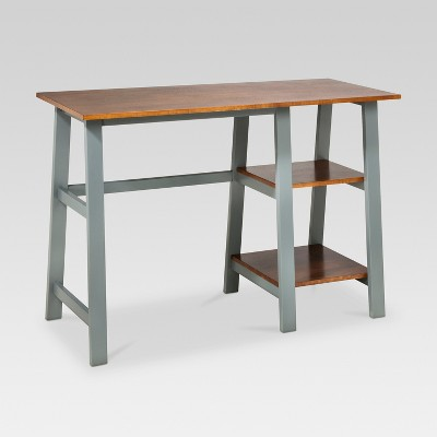 Trestle Wood Writing Desk with Storage - Threshold™