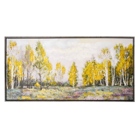 """17"""" x 34"""" Light Field Embellished Foiled Framed Canvas - New View - image 1 of 4"""