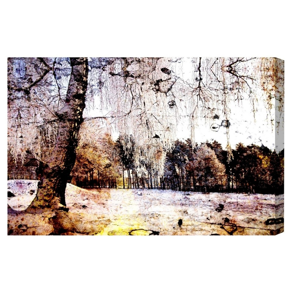 """Image of """"Oliver Gal Unframed Wall """"""""Montagne Ambience"""""""" Canvas Art (24x16), Multi-Colored"""""""