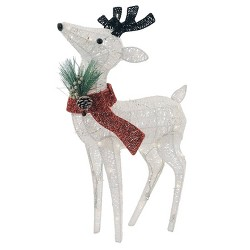 Philips Christmas LED Glitter String Fawn Novelty Sculpture with 60 Lights Pure White
