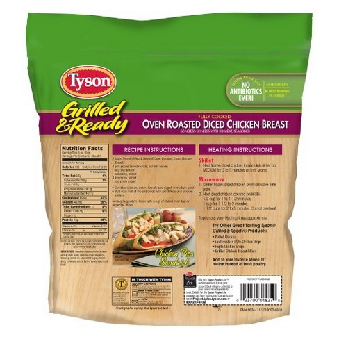 Tyson Grilled Ready Oven Roasted Diced Chicken Breast 22oz Target