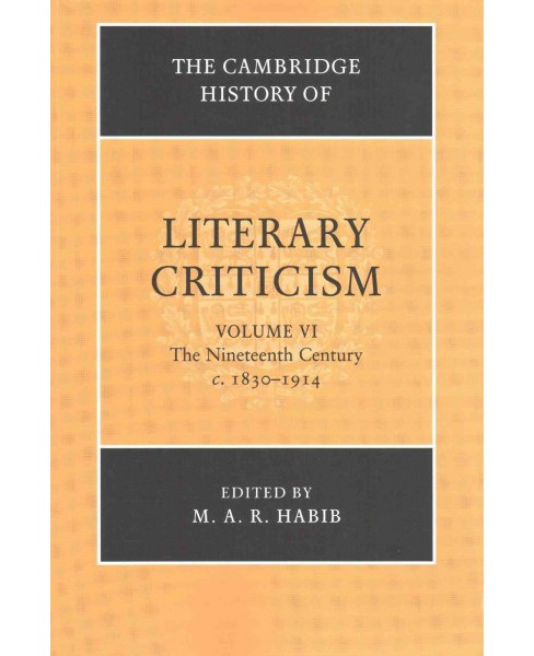 Cambridge History of Literary Criticism : The Nineteenth Century, C. 1830-1914 (Vol 6) (Reprint) - image 1 of 1