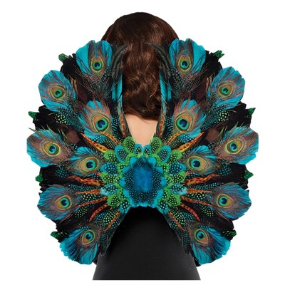 Peacock Feather Wings Halloween Costume Accessory
