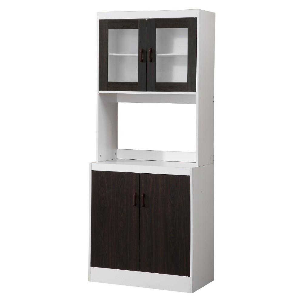Traditional Kitchen Cabinet - White/Dark Brown - Home Source Industries