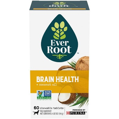 Purina EverRoot Natural Brain Health with Coconut Organic Supplement Chewable Tablets for Dogs - 60ct