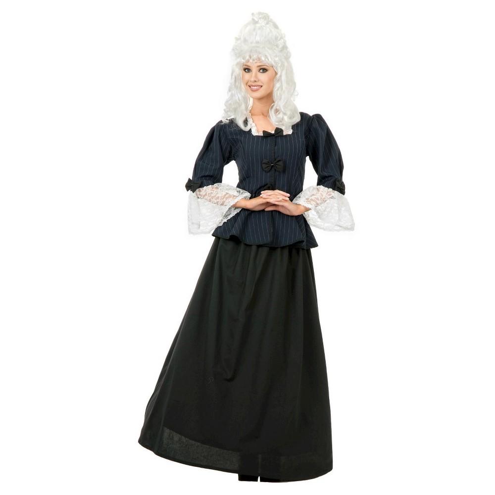 Image of Halloween Women's Martha Washington Colonial Woman Costume - Medium, Blue