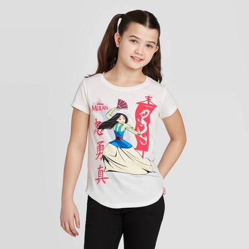 Disney Mulan Girls' Short Sleeve T-Shirt   Best Gifts for Mulan Fans